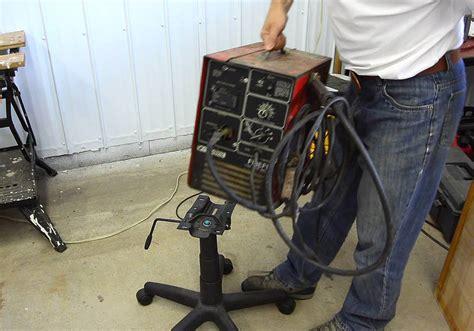 office chair  welding cart