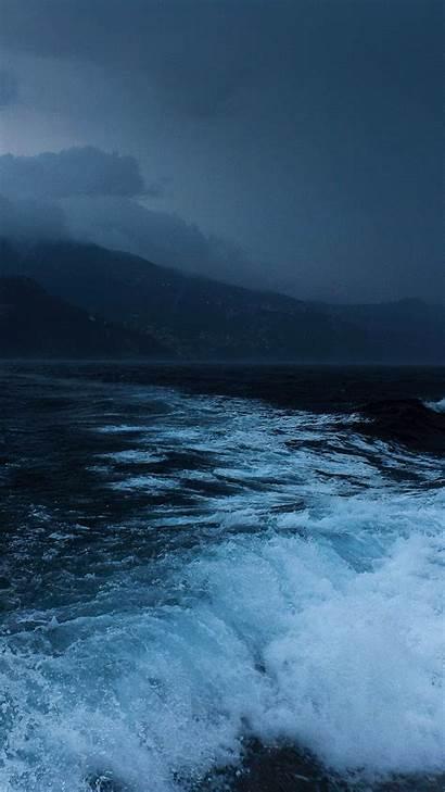 Ocean 4k Sea Night Waves Shore Nature