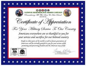Veteran Appreciation Certificate Template
