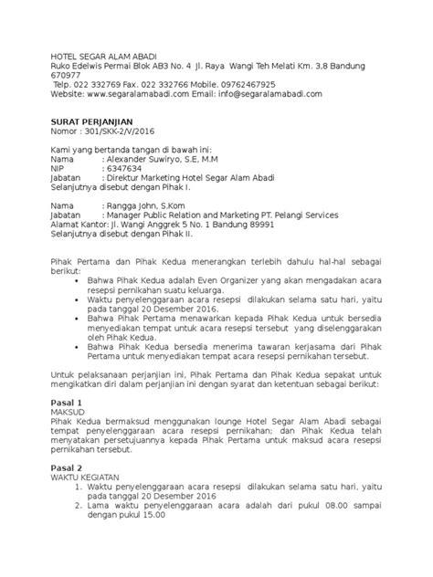 Contoh Perjanjian Joint Venture Pdf - FRasmi