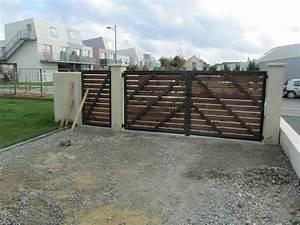 Portail En Bois Pas Cher : comment fabriquer un portail en bois bricolage maison ~ Melissatoandfro.com Idées de Décoration