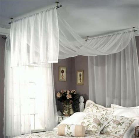 drape fabric from ceiling bedroom new studio ceiling mount rod set for curtains draperies