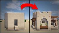 how to remodel a house Minecraft: How To Remodel A Desert Village Small House ...