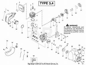 Poulan Fx26sc Gas Trimmer Type 4 Parts Diagram For Engine Type 3 4