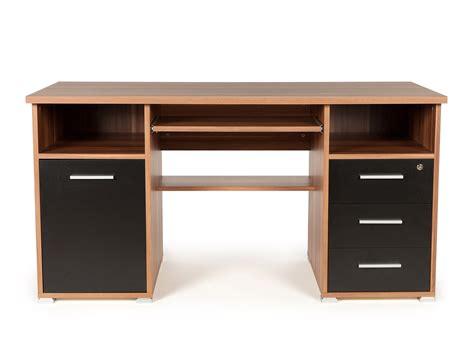 meuble bureau bureau informatique avec caisson tiroirs niches en bois
