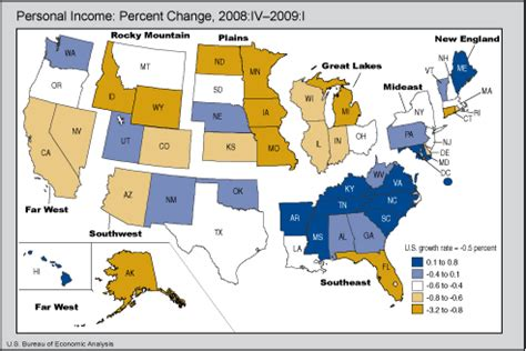 us bureau economic analysis bea release state personal income quarter 2009