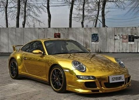 gold porsche truck gold wrapped porsche 911 carrera 4s in china haute living