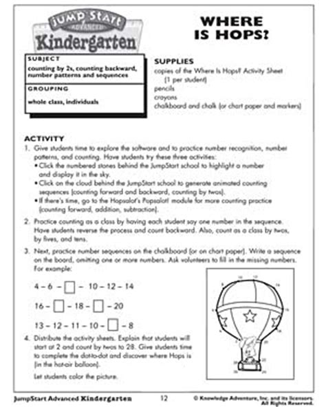preschool math lesson plan where is hops free kindergarten math activities and 371