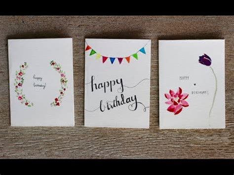 Birthday Card Picture by Watercolour Birthday Cards 3 Designs Pasteldaisy