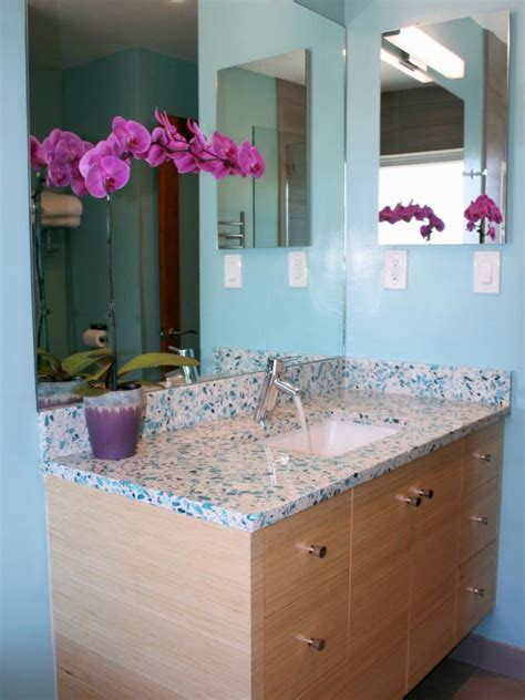 contemporary faucet  caribbean blue guest bath hgtv