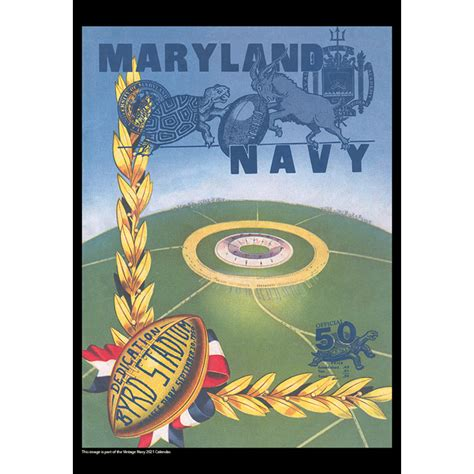 2021 Vintage Navy Midshipmen Football Calendar - Asgard Press