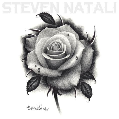 Black And Grey Rose Drawing Black Colored Pencil Rose