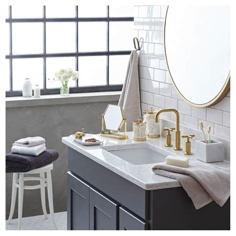 gold bathroom mirror bathroom mirror gold nate berkus target 12985