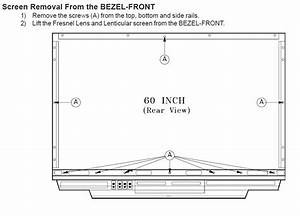 How To Replace The Front Screen On A 60 U201d Dlp Mitsubishi Tv