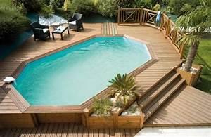 Deco Piscine Hors Sol : piscine hors sol bois id es et conseils pour votre jardin id es pour la maison ~ Melissatoandfro.com Idées de Décoration