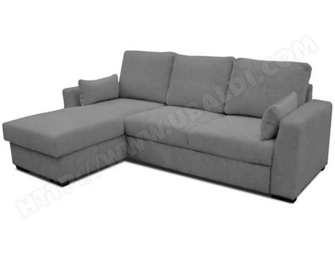 ubaldi canapé canapé lit ub design loubna angle réversible gris pas cher