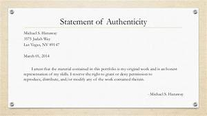 portfoliohanawaym With statement of authenticity template