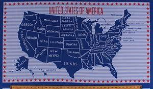235quot X 44quot Panel United States Of America Country Map