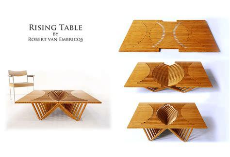 rising table rising furniture by robert van embricqs extravaganzi
