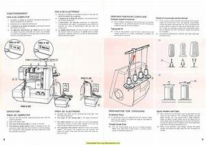 Elna Lock Pro 4 Sewing Machine Instruction Manual