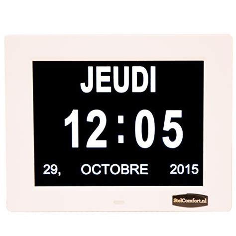 horloge calendrier avec date jour et heure horloge alzheimer horloge pour les seniors