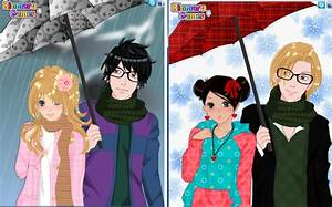 anime winter couple dress up game by pichichama on deviantart With anime wedding dress up games