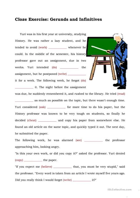 Gerund And Infinitive Worksheet  Free Esl Printable Worksheets Made By Teachers