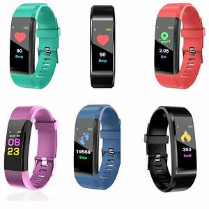 New Id115hr Plus Wristband Smart Band Oled Color Screen