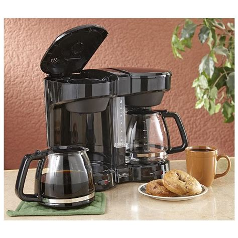 Coffee Consumers   Dual Coffee Maker Black