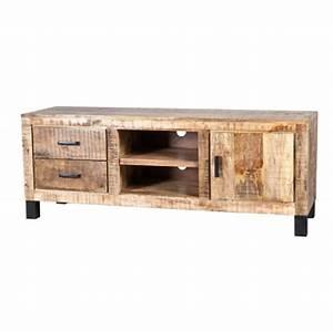 Meuble En Manguier : meubles tv et tables de salon ~ Teatrodelosmanantiales.com Idées de Décoration