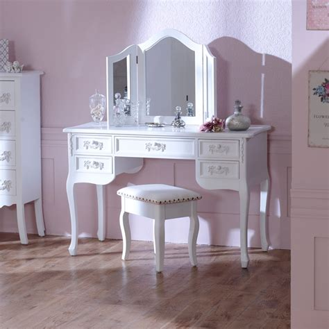 white desk with mirror antique white dressing table desk with triple mirror and