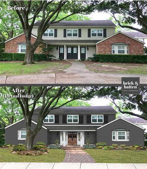 House exterior interior and exterior house design beautiful homes painted brick house brick off white paints house styles house painting. 20 Painted Brick Houses to Inspire You in 2020 | Blog | brick&batten