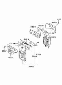 2009 Hyundai Sonata Manifold Catalytic Assembly