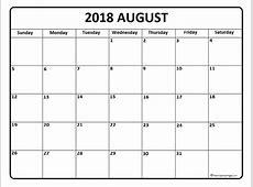 August 2018 Calendar Canada – printable calendar templates