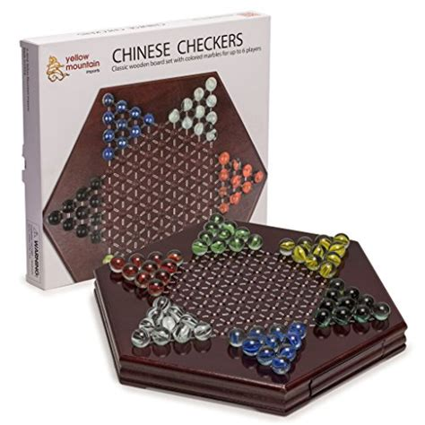ideal premium wood cabinet 15 game set yellow mountain imports chinese checkers halma wooden