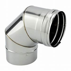 Conduit Cheminée Inox : coude 90 segments inox simple paroi ~ Edinachiropracticcenter.com Idées de Décoration