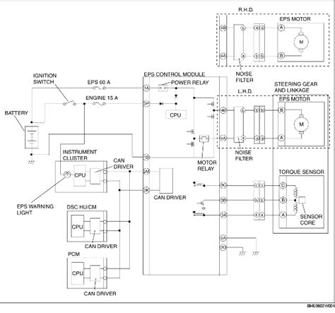 electric power steering eps system wiring diagram