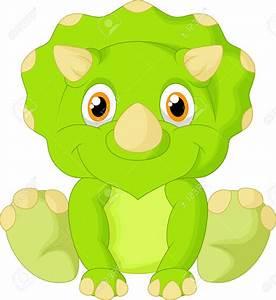 Cute Triceratops Cartoon Royalty Free Cliparts, Vectors ...
