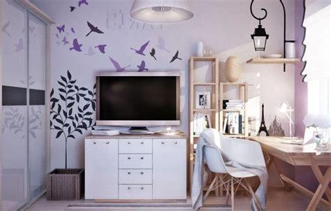 Kinderzimmer Mädchen Flieder by Wandgestaltung Jugendzimmer M 228 Dchen Flieder Farbe
