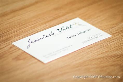 business cards design  jewelers valet mito studios