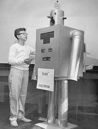 """""""Elmo Electron""""robot built by 13 year old michael cook"""