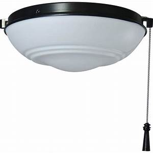 Hampton bay universal ceiling fan led light kit with shatter resistant bowl the home depot
