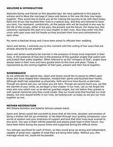 best photos of wedding ceremony script template sample With best wedding ceremony script