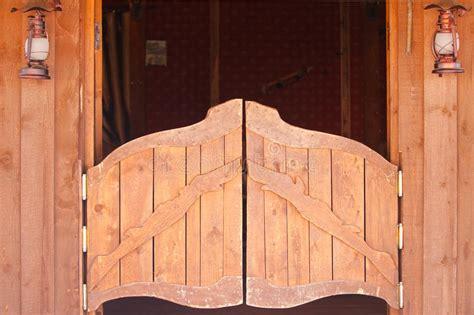 saloon  doors stock image image  village west