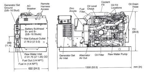 Onan Engine Wiring Diagram Sensor by Cummins Onan Mdkds 29 Kw Marine Generator