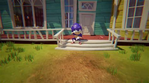 hello neighbor mod makes sonic the hedgehog your neighbor gambit