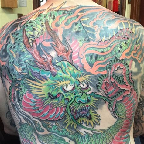 traditional japanese dragon  piece tabernacle tattoo