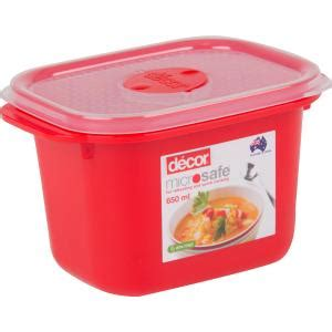 decor microsafe oblong container xxmm red ml