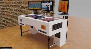 Gaming Schreibtisch Selber Bauen : projekt heaven hell deskcon projekt 2 pcs verbaut in einem schreibtisch ~ Markanthonyermac.com Haus und Dekorationen
