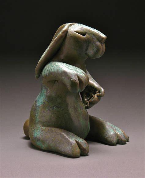 Fist Bump Bunny by Steve Murphy (Ceramic Sculpture ...